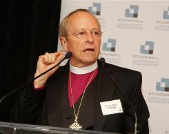 Bishop Gene Robinson attends the Stonewall Community Foundation annual dinner in New York City June 17.