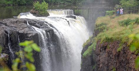 The once prosperous industrial city of Paterson, N.J., recently won national historical park designation for its Great Falls, a 77-foot-high waterfall on the Passaic River.