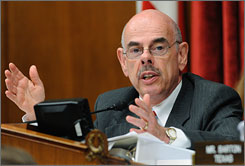Rep. Henry Waxman, D-Calif., seen here speaking on Capitol Hill in Washington on July 30, has sent letters to large health insurance companies asking for financial records.