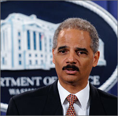Attorney General Eric Holder, seen here during a news conference in Washington on Thursday, named federal prosecutor John Durham to investigate possible detainee abuse.