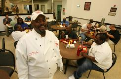 Cecil Morris Jr. knows what it's like to be on both sides of a soup kitchen line. Once homeless, he now is chef at the local Salvation Army winning awards for his barbeque.