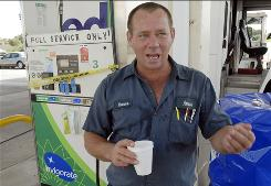 """I don't know what the future is going to bring me,"" gas station owner Charlie Thomas says. Thomas owns a station in Satellite Beach, Fla.. A new state regulation requires all stations to install tanks to pump gas with at least 10% ethanol by year's end."