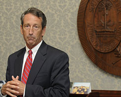 Republican Gov. Mark Sanford, who has 16 months left in his term, announces at a news briefing in Columbia, S.C., that he won't resign.