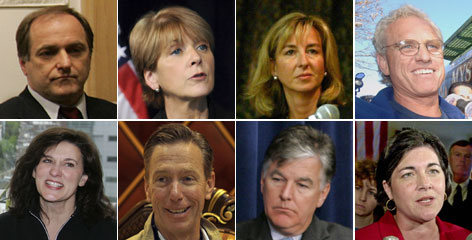 Could one of these individuals be the next senator from Massachusetts? Top row, from left: Rep. Michael Capuano; state Attorney General Martha Coakley; former lieutenant governor Kerry Healey; ex-congressman Joseph P. Kennedy. Bottom row: Vickie Reggie Kennedy; Rep. Stephen Lynch; ex-congressman Marty Meehan; and former governor Jane Swift.