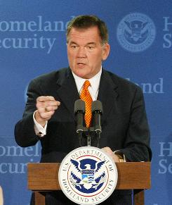 Tom Ridge's book The Test of Our Times comes out Tuesday and recounts his days as head of Homeland Security.