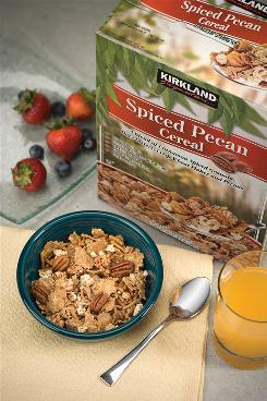 Taste testers ranked Kirkland Signature Spiced Pecan Cereal, sold at Costco, the best of 18 high-fiber cereals.