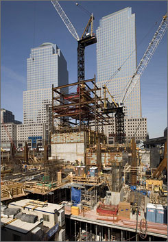 The Ground Zero site in New York City is still taking shape, nearly seven years after plans were first introduced to shape its future.