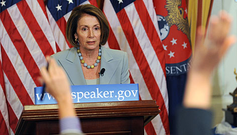 """It's time for us to talk about health care, not Mr. Wilson,"" House Speaker Nancy Pelosi says Thursday at a weekly press conference."