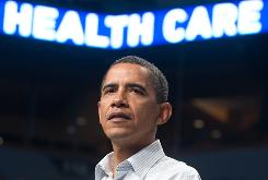 President Obama speaks about his proposed health care plan Saturday at a rally at the Target Center in Minneapolis.
