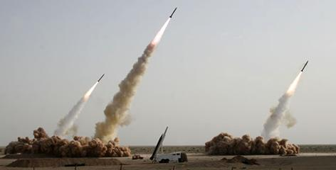 Iran conducted a test-firing of missiles in the desert on July 9, 2008. President Obama said he agreed with his predecessor's assessment that the Iranian missile program poses a threat.