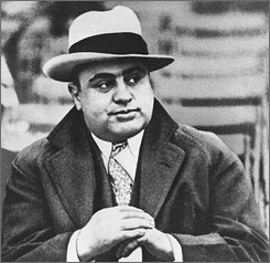 Mobster Al Capone, here at a football game in Chicago on Jan. 19, 1931, owned the property in the late 1920s and early 1930s during Prohibition.
