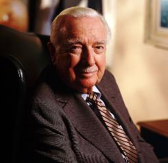 Former CBS news anchor Walter Cronkite, shown at his office in New York in 1998.