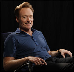 "Conan O'Brien took over the ""Tonight Show"" from host Jay Leno in June after the latter's 17 years as host."