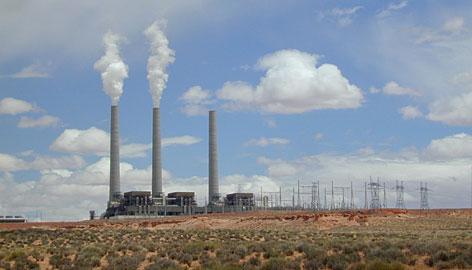 Electricity produced by the Navajo Generating Station near Page, Ariz., is distributed in Arizona, California and Nevada.