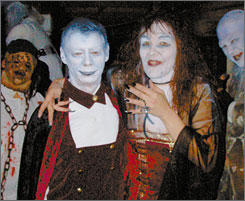 Jack Holsinger and his bride, Connie Spitznagel, got hitched Saturday in a Halloween-themed wedding at the Rockin?-R-Ranch in Columbia Township, Ohio, southwest of Cleveland.