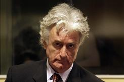 Radovan Karadzic faces two counts of genocide and nine other charges for war crimes and and offenses against humanity during the Balkan wars.