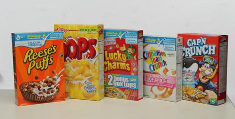 When kids are offered sweetened cereals at breakfast, they eat twice as much as they should, but when they are given low-sugar brands, they consume the appropriate serving size, according to a new study.
