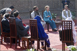 Clinton faces Pakistani anger over U.S. drone attacks