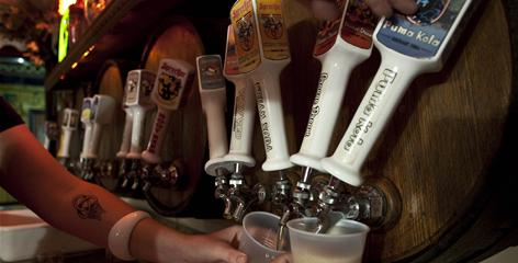 Beer is served at Sprecher Brewery in Glendale, Wis.