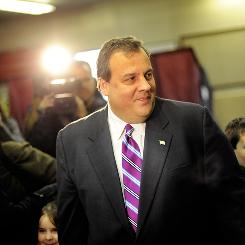 Republican Chris Christie promised to cut spending and taxes as governor of New Jersey.