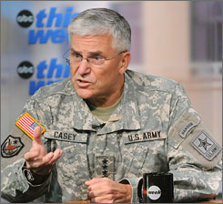 Army Chief of Staff Gen. George Casey has instructed his commanders to be on the lookout for anti-Muslim reaction to the killings at the Texas post.
