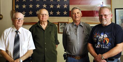 Paul Peck, James Verheyen, Gerald Wright and Mike DeWitt are members of VFW (Veterans of Foreign Wars) Post 2257 in Galesburg, Ill. Their post and ones like it are fighting to survive without young veterans joining their ranks.