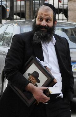 Sholom Rubashkin, shown last month walking to the courthouse, was convicted of fraud charges.
