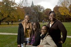 Bryn Mawr College full merit scholarship students, from left, Saskia Guerrier, Augusta Irele, Shanika Bridges-King and Sharhea Wade participate in the New York-based Posse Foundation program.