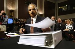 U.S. Attorney General Eric Holder testifies before the Senate Judiciary Committee on Capitol Hill on Wednesday.