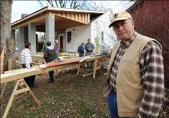 Don Shuman, 66, visits a work site in Upperville, Va. The owner of a small Culpeper construction company says health care costs and the economic downturn forced him to cut his workforce from seven people in 1993 to three today. He also switched carriers, which increased deductibles and co-payments for those covered.