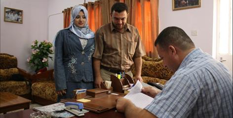 Mohammed al-Rubaiee, 30, a Shiite in southwest Baghdad, will marry his Sunni neighbor Taghreed al-Samaraee, 21, Friday.