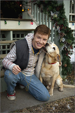 Noel Fisher co-stars with a dog called Johnny in the made-for-TV movie A Dog Named Christmas.