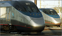 Amtrak's Acela Express between Washington, D.C., and Boston is currently the USA's only high-speed rail service, which tops out at 150 mph.