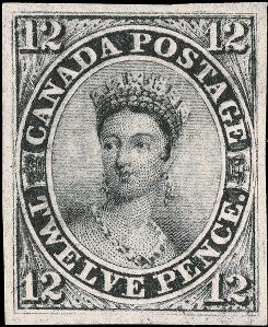 A 1851 Canadian 12 Pence denomination postage stamp from the collection of Wall Street executive William H. Gross sold for $260,000 in a public auction on Nov. 19 in New York City.