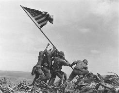 This picture of Marines raising the flag on Iwo Jima's Mt. Suribachi came to symbolize American courage and patriotism.