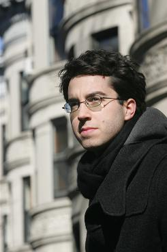 "Jonathan Safran Foer in Brooklyn's Park Slope neighborhood in 2005. ""Factory-farmed food is ... making hundreds of millions of dollars for CEOs of corporations at the expense of normal people,"" Foer tells USA TODAY."