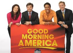 The new team features, from left, Juju Chang, George Stephanopoulos, Robin Roberts and Sam Champion.
