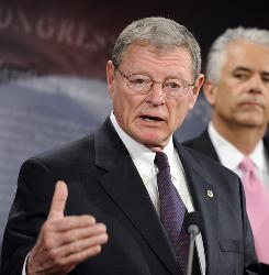 Sen. James Inhofe, R-Okla., has been a vocal opponent of limits on greenhouse gas emissions.