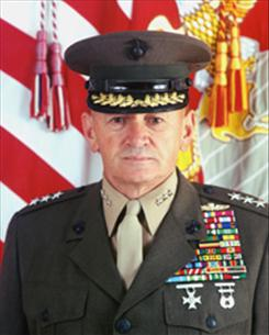 Retired Marine lieutenant general Emil Bedard served as a military mentor and consultant for a defense contractor.