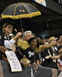 The New Orleans Saints have sold out every game in the Lousiana Superdome this season.