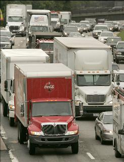 Traffic crawls on Interstate 93 in Newton, Mass. INRIX data suggest Northeastern communities such as the Boston area will see significant year-over-year increases in traffic jams.
