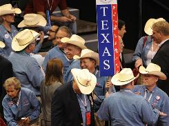 Texas had a sizable contingent at the Republican National Convention last year.