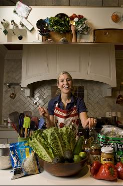 Dawn Jackson Blatner, registered dietitian and author of The Flexitarian Diet, is prepared to have fun with produce.