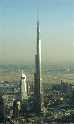 One day ahead of the official inauguration, Burj Dubai is seen in Dubai.