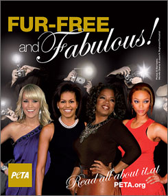 The White House says PETA is using the first lady's image without her permission.