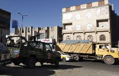 A Yemeni army patrol operates an impromptu checkpoint on the main road leading to the diplomatic quarter where many embassies are located, in San'a, Yemen. Yemen showed signs of friction Tuesday with the United States over the fight against al-Qaeda.