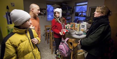 Matt Dinnerstein and his wife Angela Allyn talk to two of their kids, Maya, 16, and Alec, 12, at home before school. Public schools are &quot;going to get their tax dollars whether or not you as a parent are upset. If you're in a private school and you yank your kid out, that's a lot of money walking out the (private school's) door,&quot; says Allyn in regards to how schools treat parents.