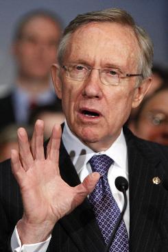 Senate Majority Leader Harry Reid speaks on Capitol Hill on Dec. 22.