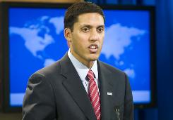 United State Agency for International Development (USAID) Administrator Rajiv Shah speaks at a news conference at the State Department in Washington on Wednesday, Jan. 13.