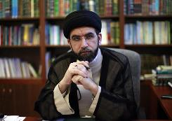 American Muslim religious leader Sayyid Mohammad Baqir Kashmiri sits in his office in Anaheim, Calif. Kashmiri is a cleric who works in Dearborn and Los Angeles on behalf of the Grand Ayatollah Ali al-Sistani and his advisers. Al-Sistani isn't widely known in the U.S. outside public policy circles, but he should be. He is one of the most prominent religious leaders in global Shiism, considered a moderate in most things, and a powerful force in Iraq.